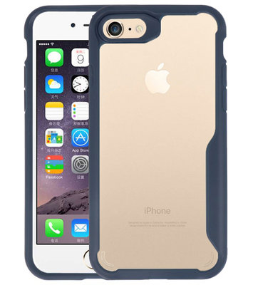 Navy Focus Transparant Hard Cases voor iPhone 7 / 8