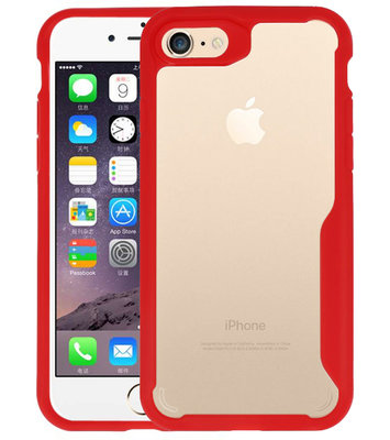 Rood Focus Transparant Hard Cases voor iPhone 7 / 8