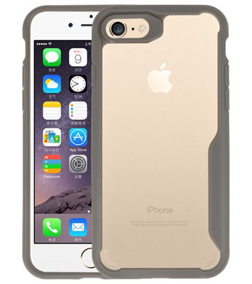 Grijs Focus Transparant Hard Cases voor iPhone 7 / 8