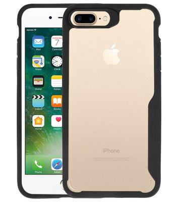 Zwart Focus Transparant Hard Cases voor iPhone 7 / 8 Plus