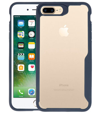 Navy Focus Transparant Hard Cases voor iPhone 7 / 8 Plus