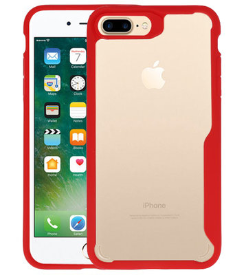 Rood Focus Transparant Hard Cases voor iPhone 7 / 8 Plus
