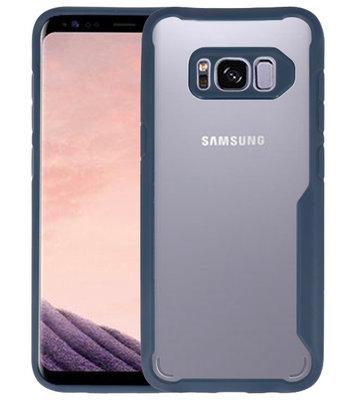 Navy Focus Transparant Hard Cases voor Samsung Galaxy S8