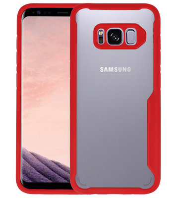 Rood Focus Transparant Hard Cases voor Samsung Galaxy S8