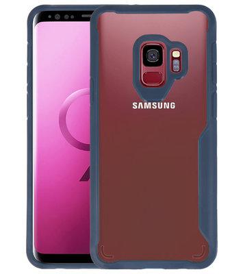 Navy Focus Transparant Hard Cases voor Samsung Galaxy S9