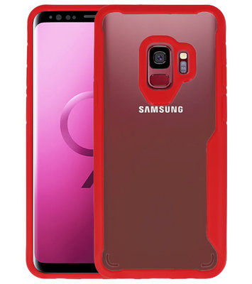 Rood Focus Transparant Hard Cases voor Samsung Galaxy S9