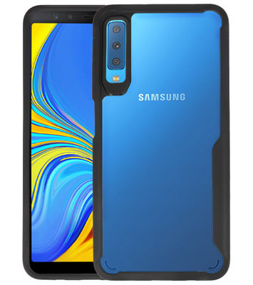 Zwart Focus Transparant Hard Cases voor Samsung Galaxy A7 2018