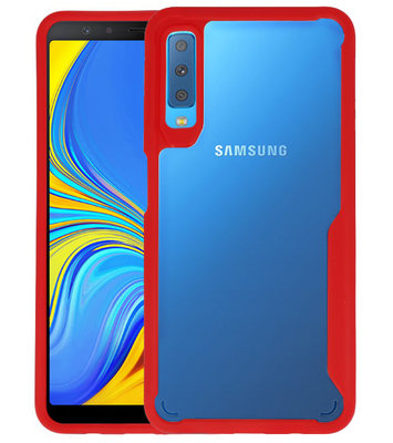 Rood Focus Transparant Hard Cases voor Samsung Galaxy A7 2018