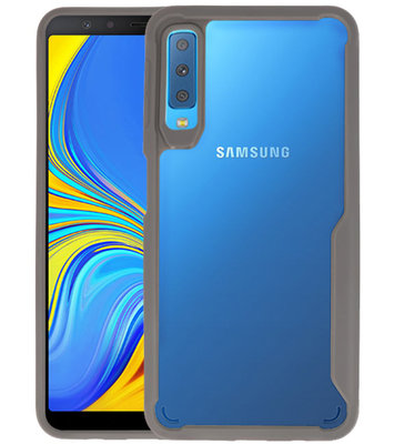 Grijs Focus Transparant Hard Cases voor Samsung Galaxy A7 2018
