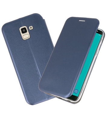 Slim Folio Case voor Galaxy J6 2018 Navy