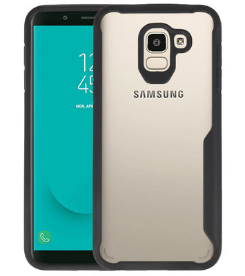 Zwart Focus Transparant Hard Cases Samsung Galaxy J6