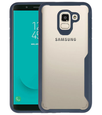 Navy Focus Transparant Hard Cases Samsung Galaxy J6