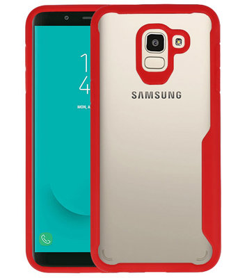 Rood Focus Transparant Hard Cases Samsung Galaxy J6