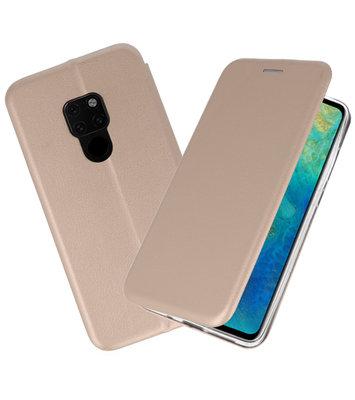 Goud Slim Folio Case voor Huawei Mate 20