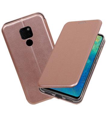 Roze Slim Folio Case voor Huawei Mate 20