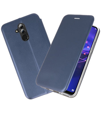 Navy Slim Folio Case voor Huawei Mate 20 Lite