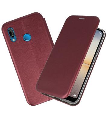 Slim Folio Case voor Huawei P20 Lite Bordeaux Rood