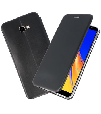 Zwart Slim Folio Case voor Samsung Galaxy J4 Plus
