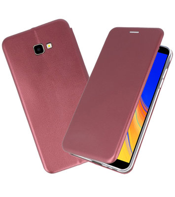 Bordeaux Rood Slim Folio Case voor Samsung Galaxy J4 Plus