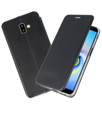 Zwart Slim Folio Case voor Samsung Galaxy J6 Plus
