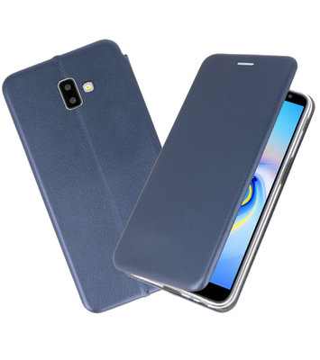 Navy Slim Folio Case voor Samsung Galaxy J6 Plus