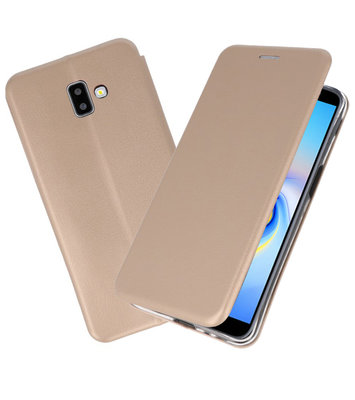 Goud Slim Folio Case voor Samsung Galaxy J6 Plus