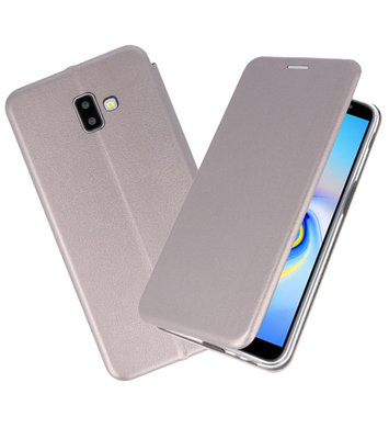 Grijs Slim Folio Case voor Samsung Galaxy J6 Plus