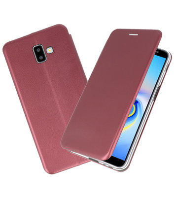 Bordeaux Rood Slim Folio Case voor Samsung Galaxy J6 Plus