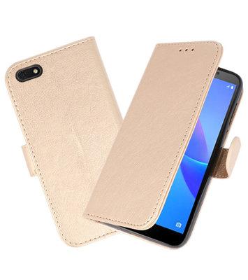 Bookstyle Wallet Cases Hoesje voor Huawei Y5 Lite 2018 Goud