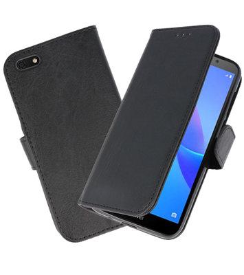 Bookstyle Wallet Cases Hoesje voor Huawei Y5 Lite 2018 Zwart