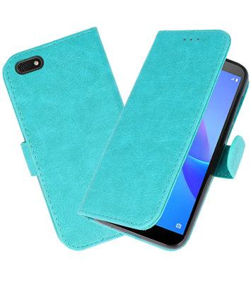 Bookstyle Wallet Cases Hoesje voor Huawei Y5 Lite 2018 Groen