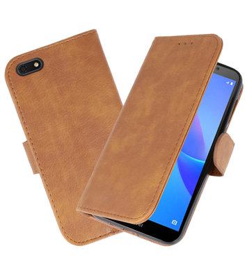Bookstyle Wallet Cases Hoesje voor Huawei Y5 Lite 2018 Bruin