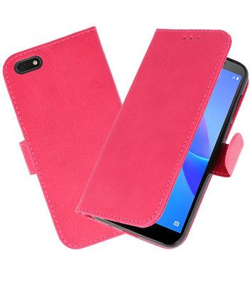 Bookstyle Wallet Cases Hoesje voor Huawei Y5 Lite 2018 Roze