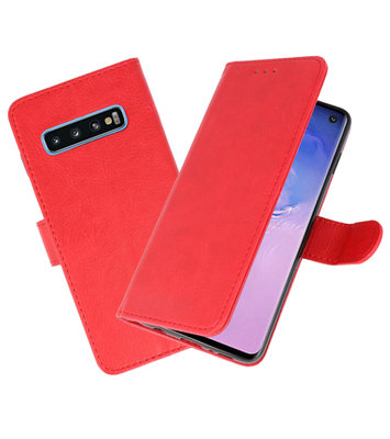 Bookstyle Wallet Cases Hoesje voor Samsung Galaxy S10 Rood