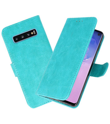 Bookstyle Wallet Cases Hoesje voor Samsung Galaxy S10 Groen