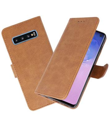 Bookstyle Wallet Cases Hoesje voor Samsung Galaxy S10 Bruin