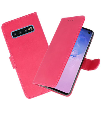 Bookstyle Wallet Cases Hoesje voor Samsung Galaxy S10 Roze