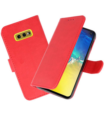 Bookstyle Wallet Cases Hoesje voor Samsung Galaxy S10e Rood
