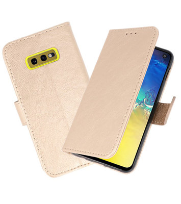 Bookstyle Wallet Cases Hoesje voor Samsung Galaxy S10e Goud