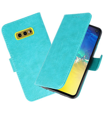 Bookstyle Wallet Cases Hoesje voor Samsung Galaxy S10e Groen
