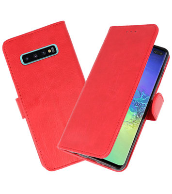 Bookstyle Wallet Cases Hoesje voor Samsung Galaxy S10 Plus Rood