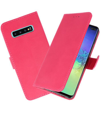 Bookstyle Wallet Cases Hoesje voor Samsung Galaxy S10 Plus Roze