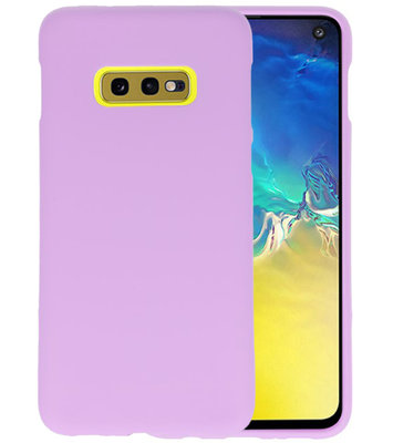 Color TPU Hoesje voor Samsung Galaxy S10e Paars