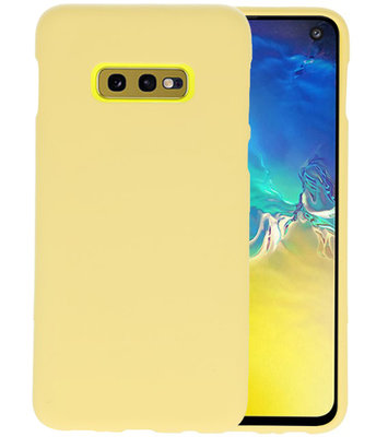 Color TPU Hoesje voor Samsung Galaxy S10e Geel