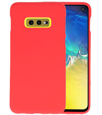 Color TPU Hoesje voor Samsung Galaxy S10e Rood
