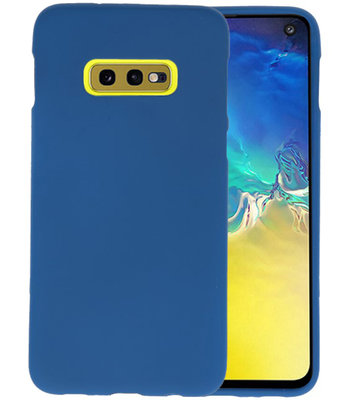 Color TPU Hoesje voor Samsung Galaxy S10e Navy