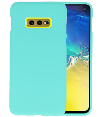 Color TPU Hoesje voor Samsung Galaxy S10e Turquoise