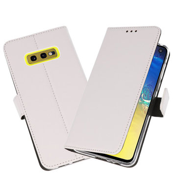 Wallet Cases Hoesje voor Samsung Galaxy S10e Wit
