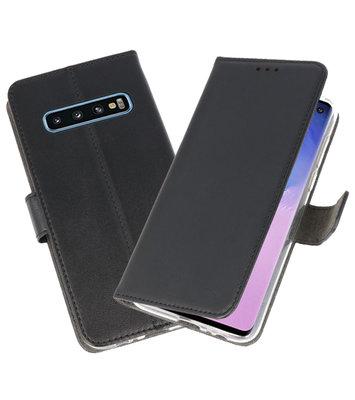 Wallet Cases Hoesje voor Samsung Galaxy S10 Zwart