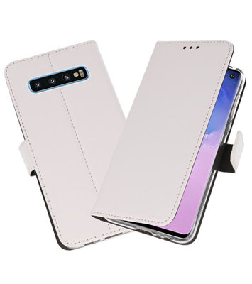 Wallet Cases Hoesje voor Samsung Galaxy S10 Wit